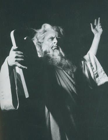 """Борис Христов в ролята на Мойсей от """"Мойсей"""" от Росини"""