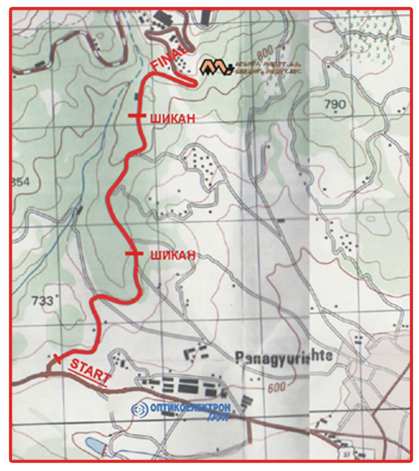 Рали Средна гора 2014 карта