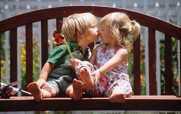 child-kiss